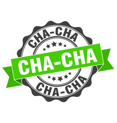 Cha-cha stamp sign seal vector