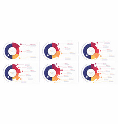 circle chart designs modern templates vector image