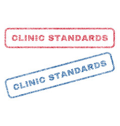 clinic standards textile stamps vector image