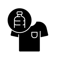 clothes made from plastic bottles black glyph icon vector image