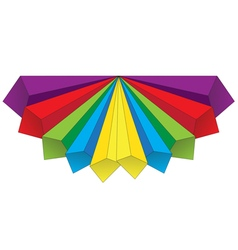 Colored volumetric arrows 1 vector image
