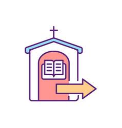 Confessing sins rgb color icon vector