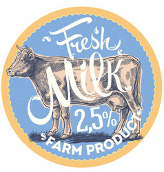 cow is label vector image