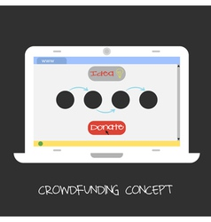crowdfunding concept Online fund the project Netwo vector image