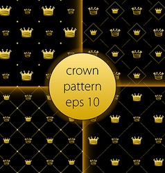 Crown collection gold big set icons vector