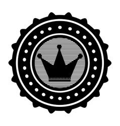 crown emblem icon image vector image