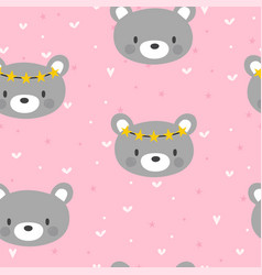 cute seamless pattern for little girls with funny vector image