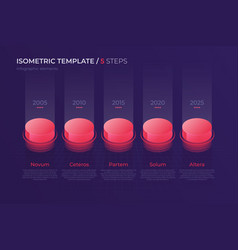 design with isometric elements template vector image