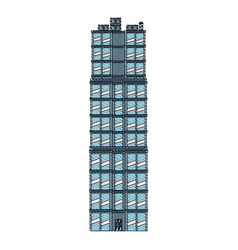 drawing building real estate apartment image vector image