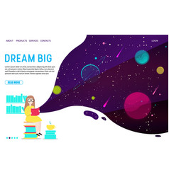 dream big landing page website template vector image
