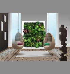 Eco-minimalist style interior vector