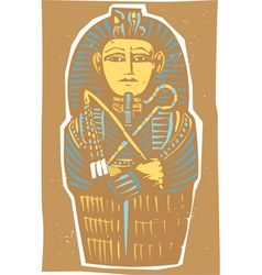 Egyptian Sarcophagus Color vector