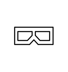 flat line 3d glasses icon vector image