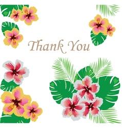 Floral thank you vector
