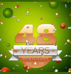 forty eight years anniversary celebration design vector image