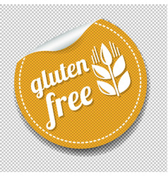 Gluten free sticker isolated transparent vector