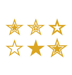 gold stars icons symbols star isolated vector image