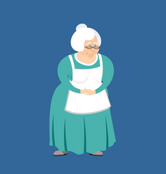 grandmother isolated granny elderly woman vector image