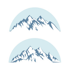 Graphic silhouette of the mountains against the vector