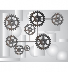 Gray background with the gears vector