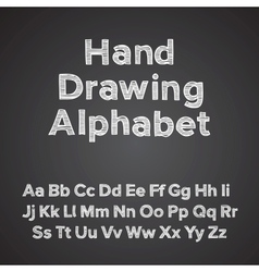 Hand drawing alphabet with chalk effect vector image