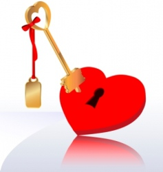 key heart vector image