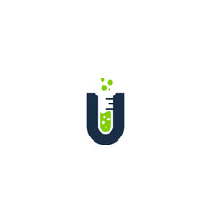 Lab letter u logo icon design vector