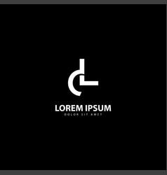 Letter l logo l design with white colors vector