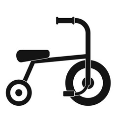little tricycle icon simple style vector image