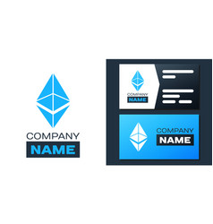 Logotype cryptocurrency coin ethereum eth icon vector