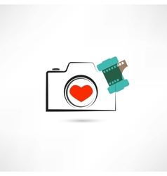Love camera vector