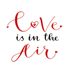 Love is in the air valentines day print vector