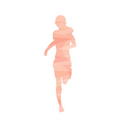 marathon runner or athlete blurred silhouette icon vector image