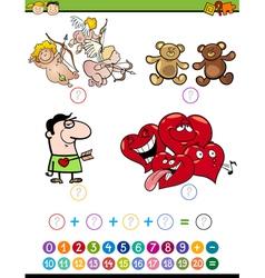 Math task for preschoolers vector