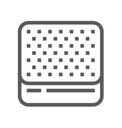 mattress line icon vector image
