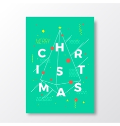Merry Christmas Abstract Swiss Style vector