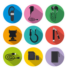 Mobile accessories for phone vector