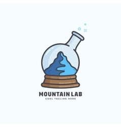 Mountain Lab Abstract Sign Emblem or Logo vector