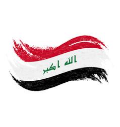 national flag of iraq designed using brush vector image