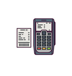 payment machine vector image