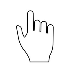 pointing hand black color icon vector image
