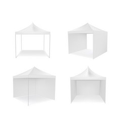 pop up canopy tent with and without walls vector image
