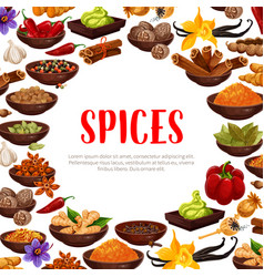 Poster of spices and seasonings vector