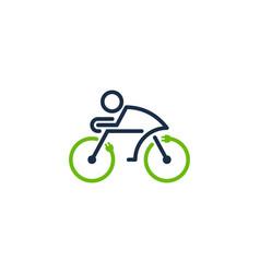 power bike logo icon design vector image