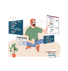 Programming and coding professional developer vector