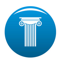 Reinforced concrete column icon blue vector