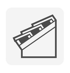 Roof tile and structure for house icon vector