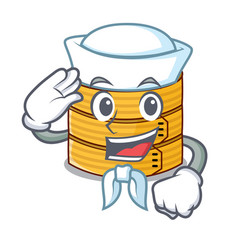 Sailor character steamed bamboo for food tool vector