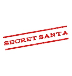 Secret Santa Watermark Stamp vector