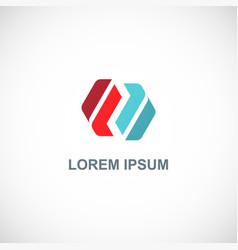 shape circle colored logo vector image